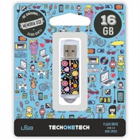 Pendrive TECHONETECH Candy Pop 16Gb (TEC4001-16)