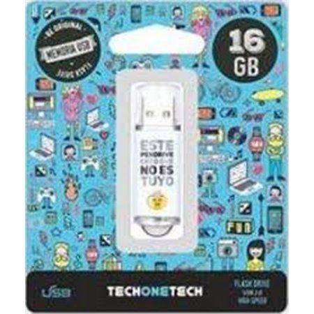 Pendrive TECHONETECH No Es Tuyo 16Gb (TEC4007-16)