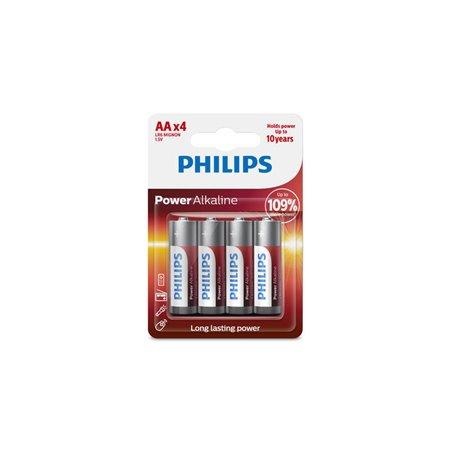 Pila Alcalina Philips Lr06 AA Blister 4 unid.