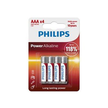Pila Alcalina Philips Lr03 AAA Blister 4 unid.