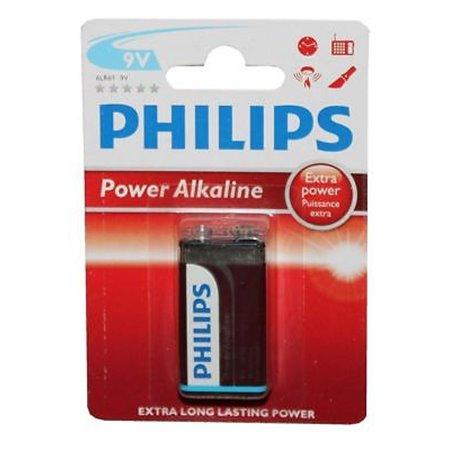 Pila Alcalina Philips 9V Blister