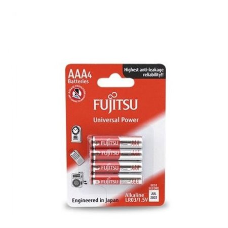 Pila Alcalina Fujitsu  LR03 AAA BLISTER 4 unidades