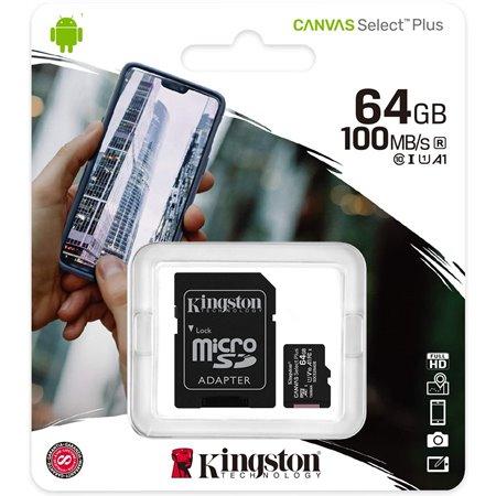 KINGSTON MicroSD HC Canvas 64Gb + Adap.(SDCS2/64GB)