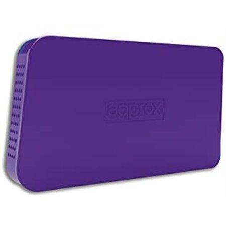 """Caja HDD APPROX 2.5"""" Sata USB2 Púrpura (APPHDD05P)"""