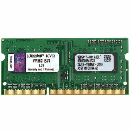 Modulo DDR3 1600Mhz SODIMM 4Gb KVR16S11S8/4