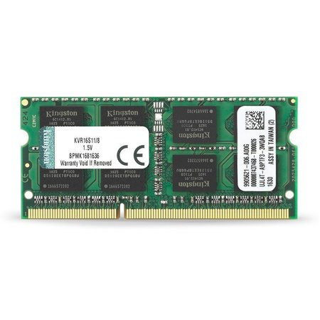Modulo DDR3 1600Mhz SODIMM 8Gb KVR16S11/8