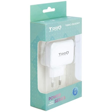 Cargador pared TOOQ USB-C+USB-A  Blanco (TQWC-2SC02WT)