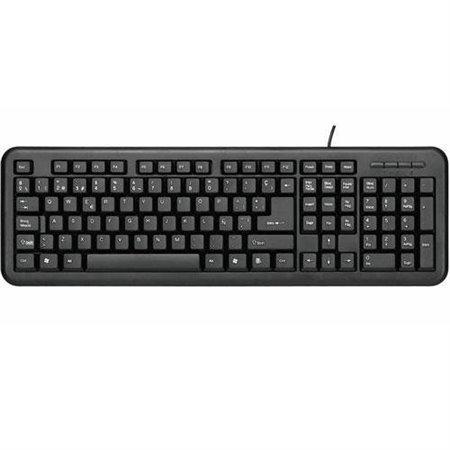 Teclado UNYKA PS2/USB Negro (UK-8102-50516)