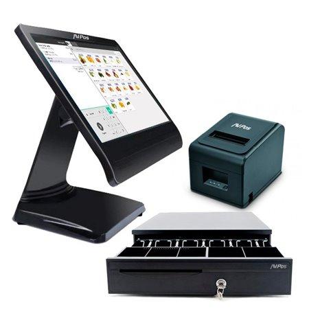 PACK TPV AVPOS K1000 J1900 15.6 TACTIL 4GB/64GB + CAJON + TC32U