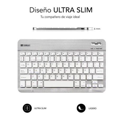 Teclado SUBBLIM Smart BT3.0 Plata  (SM0001)
