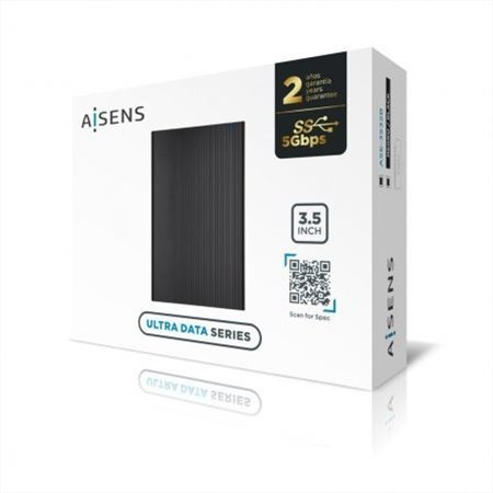 """Caja HDD AISENS 3,5"""" SATA a Usb3 Negro (ASE-3532B)"""