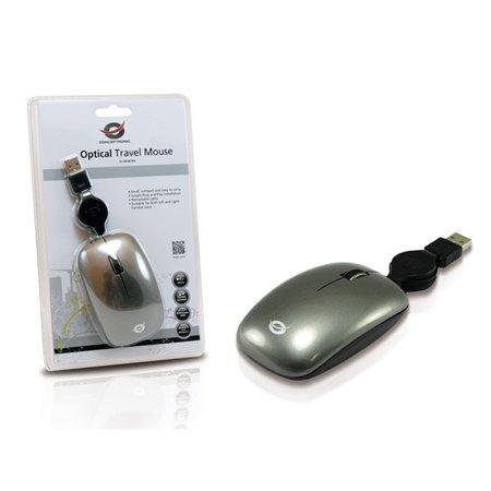 Raton CONCEPTRONIC USB de viaje 3 botones (CLLM3BTRV)