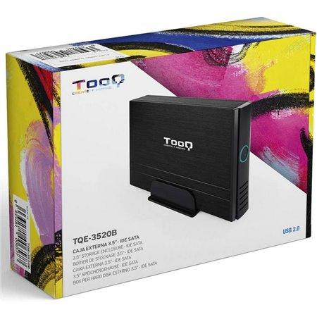 """Caja HDD TOOQ 3.5"""" Ide-Sata USB 2.0 Negro (TQE-3520B)"""