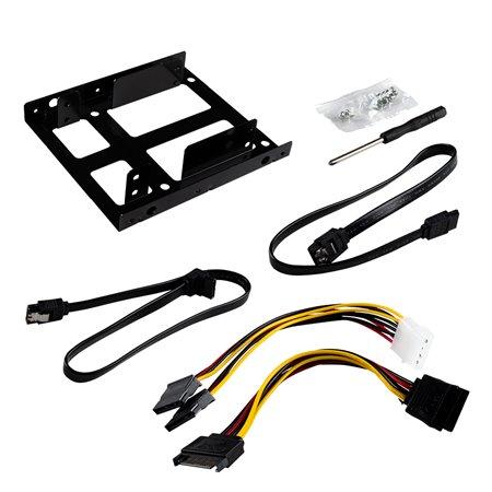 UNYKA Kit Adaptador SSD Dual a 3.5 con cable (53180)