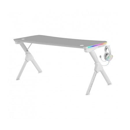 Mesa Mars Gaming 160x60x74cm RGB Blanco(MGDXLRGBW)