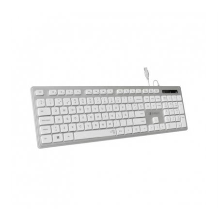 Teclado SUBBLIM Ergo Flat USB Plata (0EKE20)