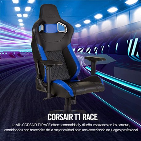 Silla CORSAIR T1 Race2018 Negro/Azul (CF-9010014-WW)