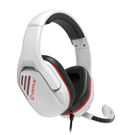 Auriculares Gaming UNYKA Nova UK201 Blanco (UK554001)