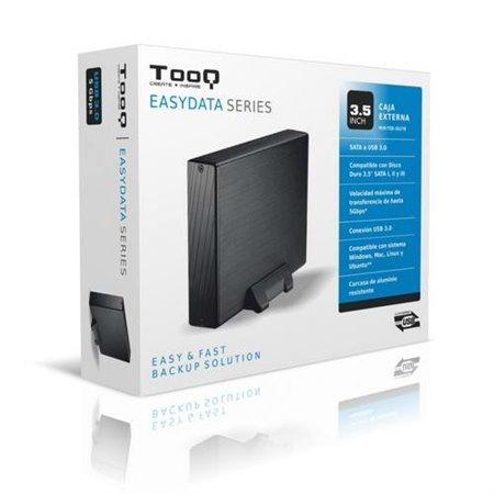 """Caja HDD TOOQ 3.5"""" SATA USB3 Negro (TQE-3527B)"""