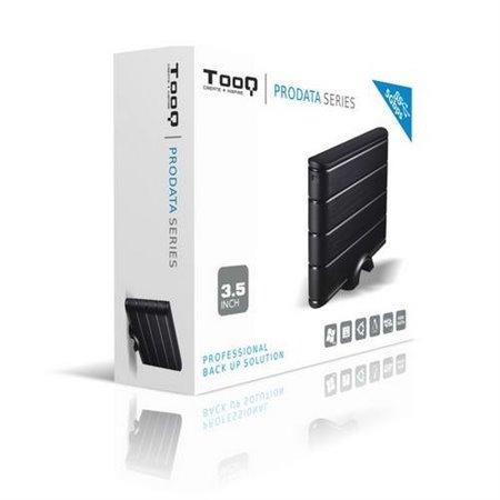 """Caja HDD TOOQ 3.5"""" Sata USB 3.0 Negro (TQE-3530B)"""