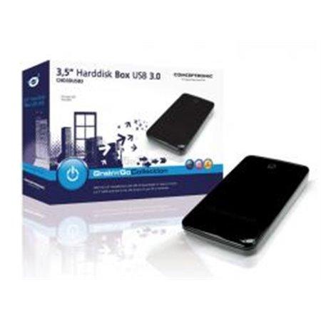 "Caja CONCEPTRONIC HDD 3.5"" sATA USB3 Negra (CHD3DUSB3)"