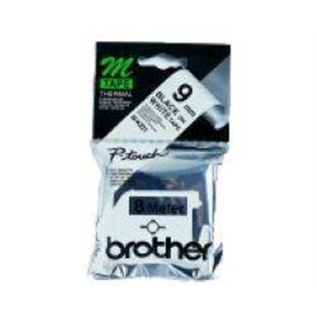 Cinta Rotuladora BROTHER 9mm (M-K221BZ)