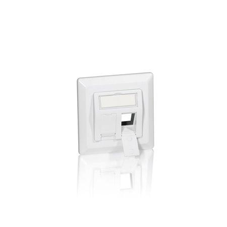 Marco roseta EQUIP para 2 conectores  Blanco (EQ761303)