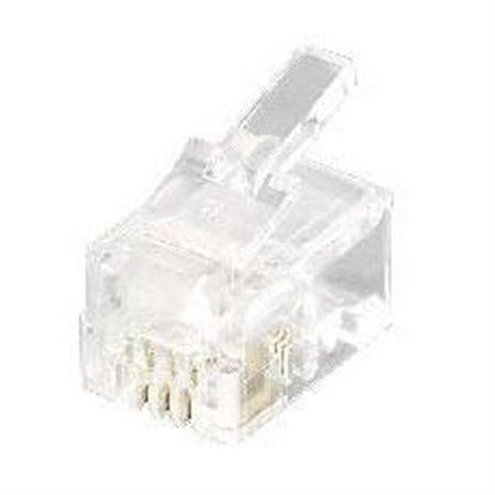 EQUIP Kit 100 Conectores RJ11 4P4C (EQ121111)
